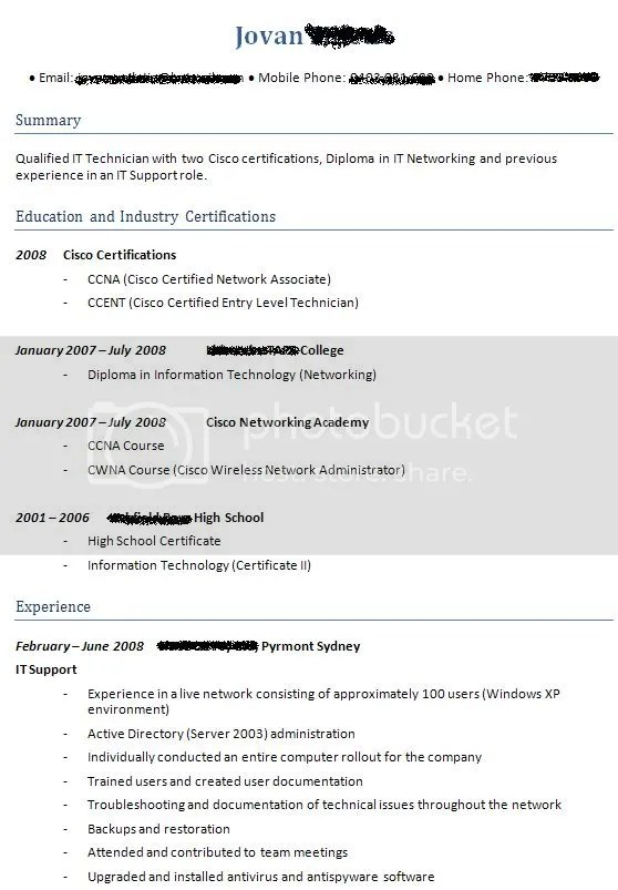 Critique My Resume Please!!
