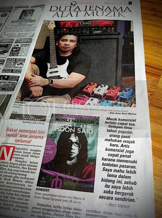 Rosli Mansor, What The Moon Said, Berita Harian