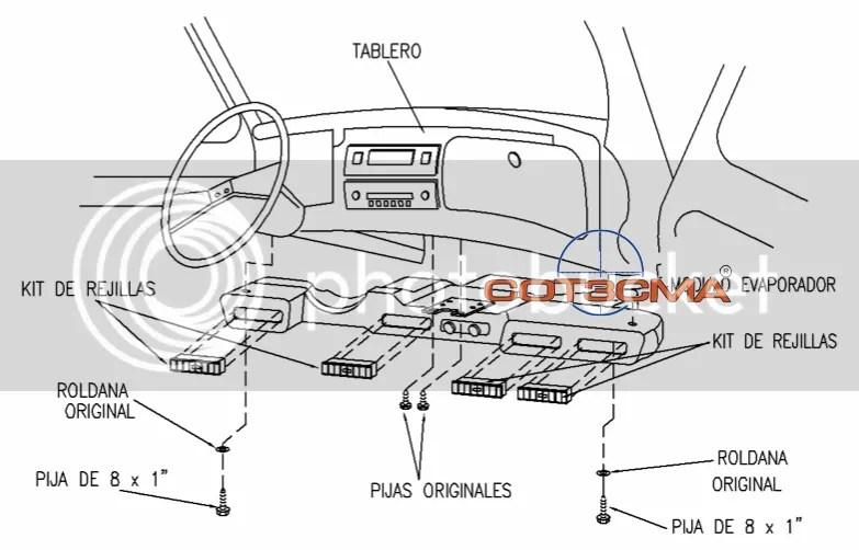 Aire Acondicionado Clima Para Vocho Vw Sedan Nuevos 100%