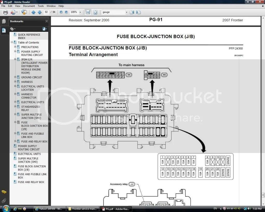 nissan pathfinder fuse box diagram 1989 toyota pickup tail light wiring service manual 2012 frontier repair 2005