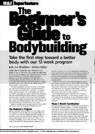 Beginers Guide To Bodybuilding (Muscle And Fitness) PDF