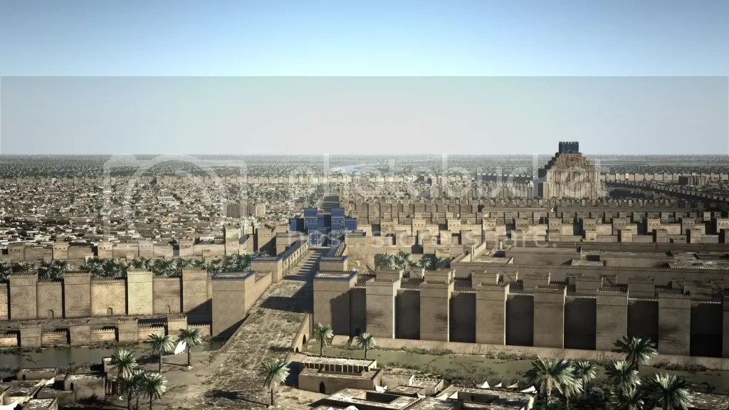 Reconstruction of Babylon at the time of Alexander Alexander_der_Grosse_Babylon.jpg