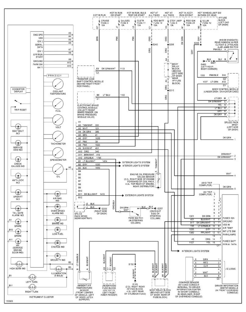 2001 dodge dakota brake pedal wiring diagram