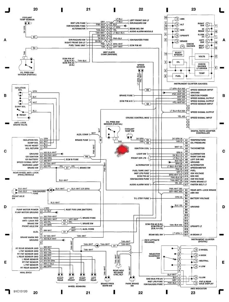 1985 Silverado Wiring Diagram 1992 Chevy Instrument