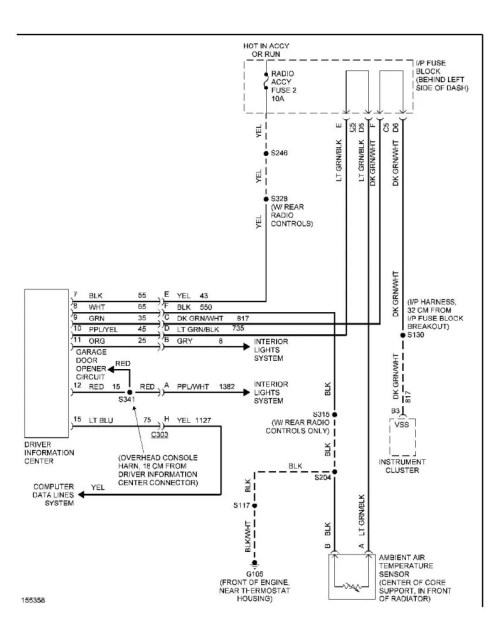 small resolution of different style schematic overhead console wiring