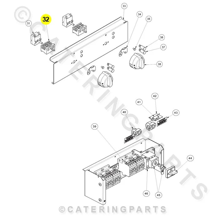 RSW013 ROTARY EGO ON OFF SELECTOR SWITCH 2 POSITION 16A