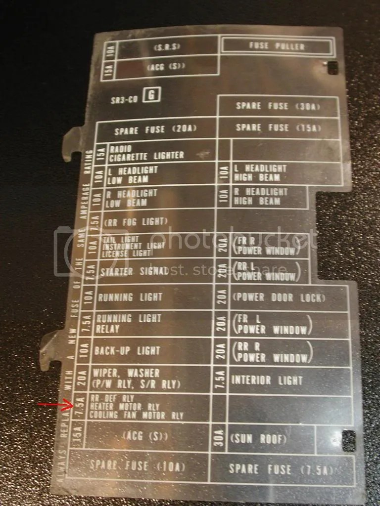 hight resolution of 93 civic fuse panel diagram