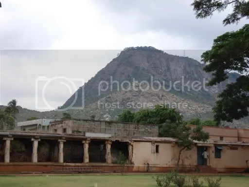 View of Nandi hills from the temple