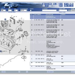 Vw Golf Mk4 Parts Diagram Verizon Fios Ont Wiring Technical Etka And Part Numbers For