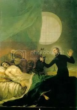 Saint Francis Borgia performs an exorcism