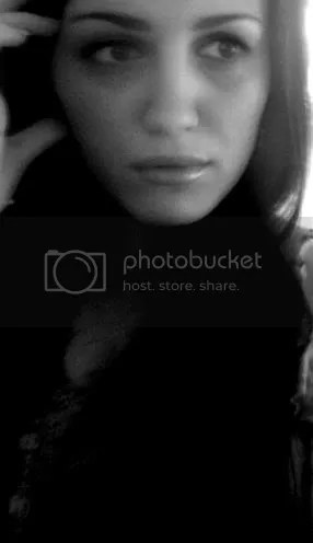 black and white - woman