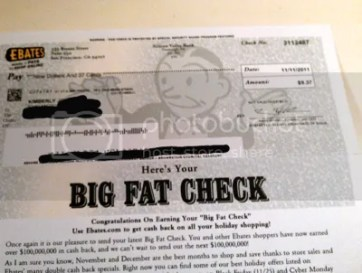 Image result for ebates big fat check