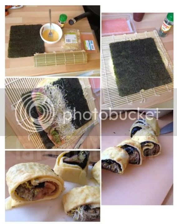 sushi omelet wrap