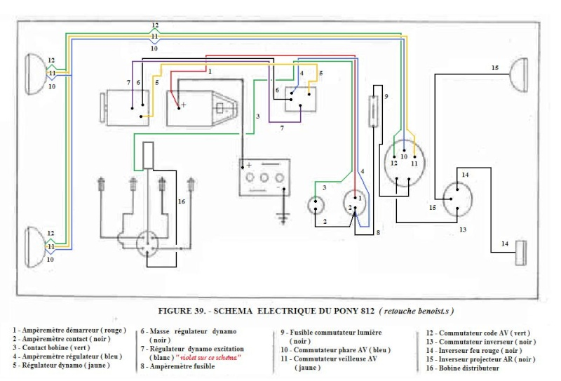 Farmall 140 12v Wiring Diagram Schema Electrique Tracteur Agricole