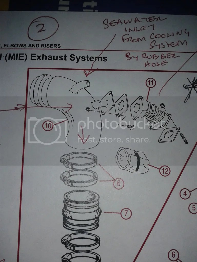 hight resolution of hi hope you can help i am looking for a new or good second hand water injection exhaust bend identified as number 10 in the diagram