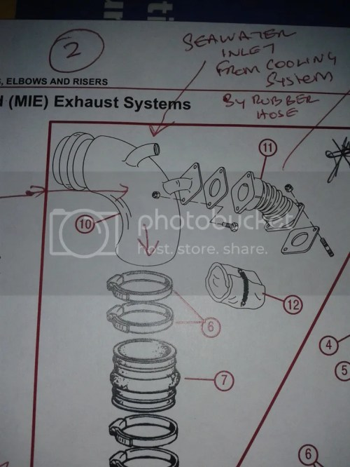 small resolution of hi hope you can help i am looking for a new or good second hand water injection exhaust bend identified as number 10 in the diagram
