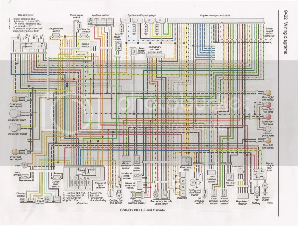 medium resolution of 2001 suzuki wiring diagram