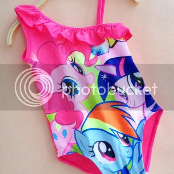 5286e5d8a8eb3 ... Piece Swimsuit Kids Summer Swimwear Kids Girls Cartoon Little Pony Swim  Wear Swimming ...