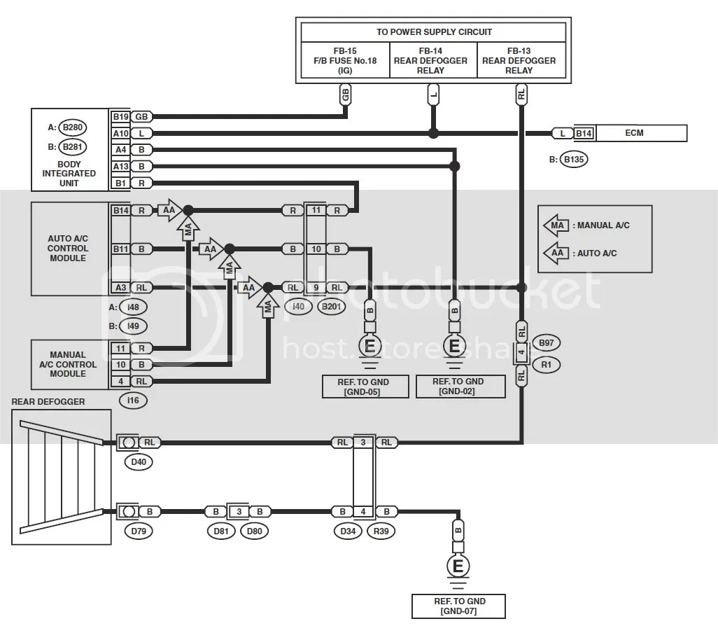 ('03-'05) Subaru Forester 2.5x Rear Window Defroster Help