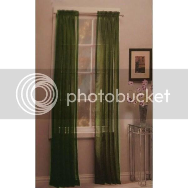 Sage Green Sheer Curtain Panels