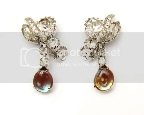 Diamond and Saphiret Earrings
