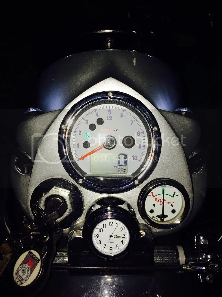medium resolution of  pierre at koso with the tach jumping around here it is oh i also replaced my ammeter with one for the machismo and a new stem clock so it all matches
