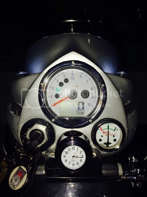 small resolution of  pierre at koso with the tach jumping around here it is oh i also replaced my ammeter with one for the machismo and a new stem clock so it all matches
