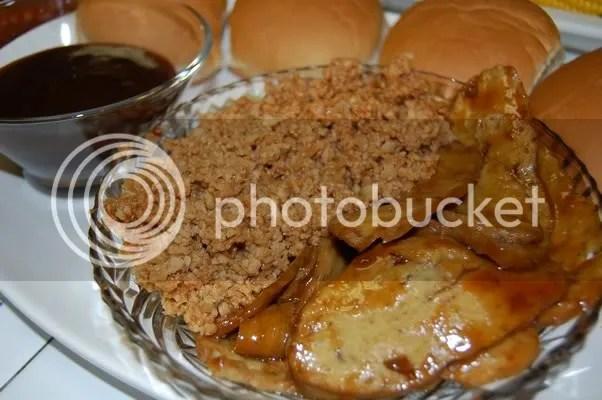 BBQ sandwich tray.