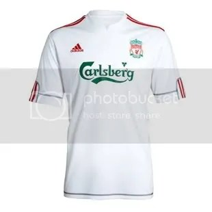f9820b6f7 Check out our 2009 10 Kits and Jerseys section for more new kits. Liverpool  FC Adidas 09 10 Euro Away ...