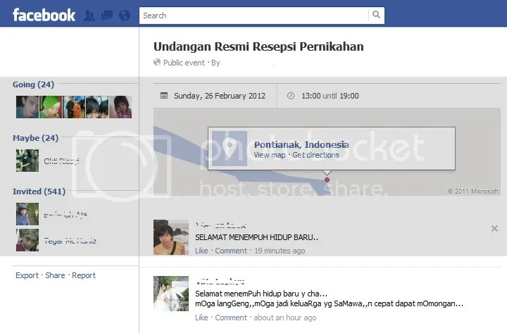 Undangan via FB..