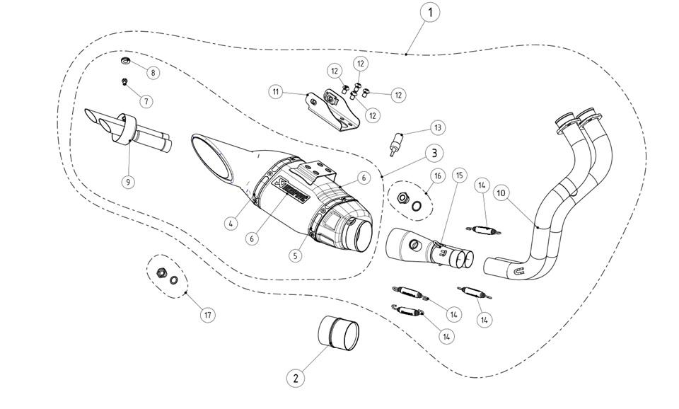 Компания Akrapovic выпустила гоночный выхлоп для Yamaha MT
