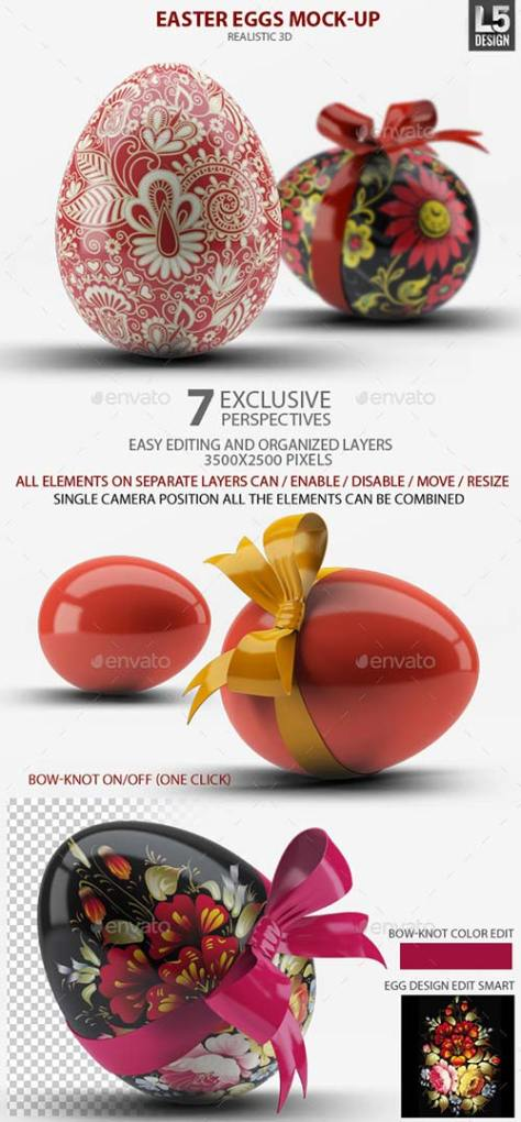 GraphicRiver Easter Eggs Mock-Up 10765628