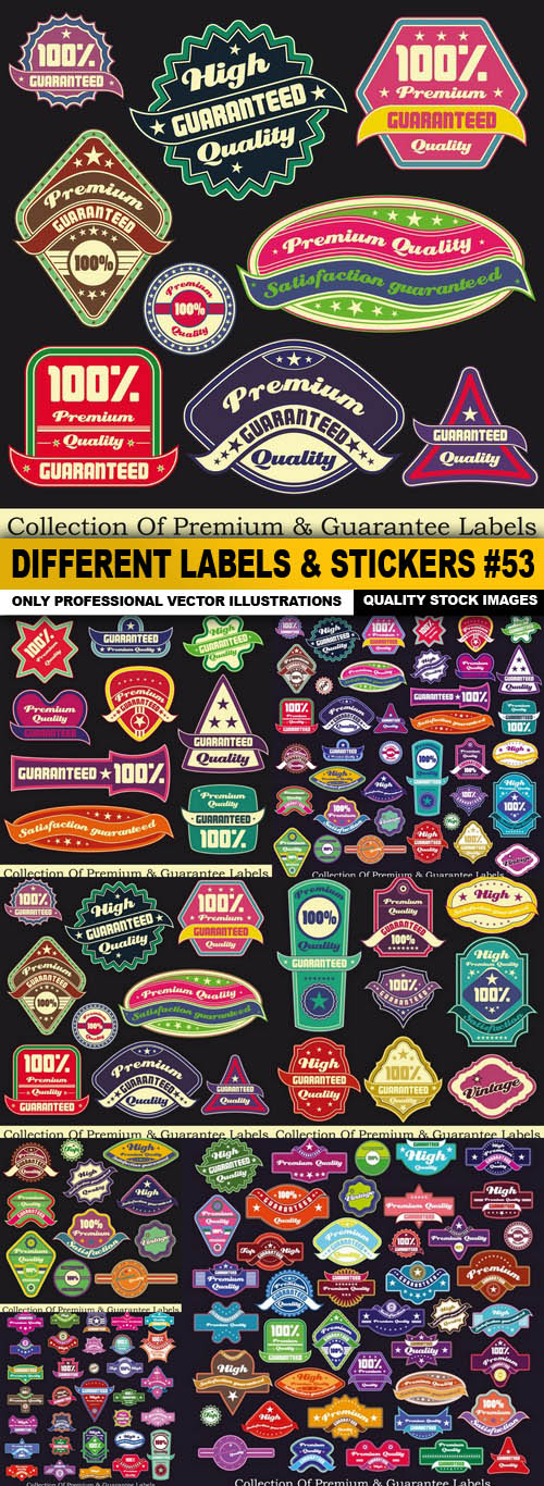 Different Labels & Stickers #53 - 7 Vector