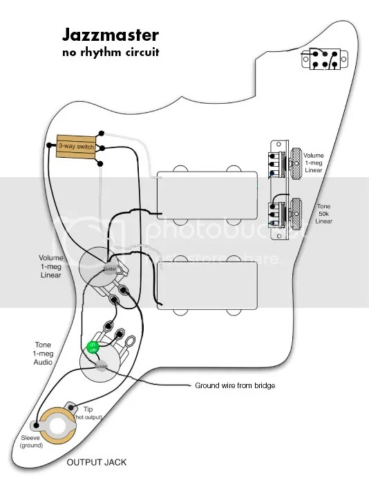 jazzmaster wiring diagram  no rhythm circuit