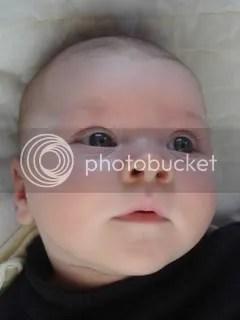 Precious, beautiful sweetie with round cheeks