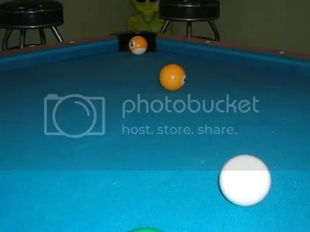 This is almost certainly an EASY win in 9-Ball.  Hit the 1-Ball into the 9-Ball and win.