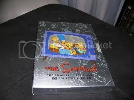 This is The Simpsons Season 1 box set.  This was way, way back when The Simpsons first started and was funny.