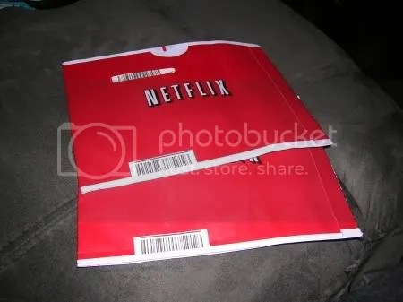 I am a member of Netflix and, as you may be able to see, the envelopes are RED.  Of course, all of you knew that because youre a smart bunch.