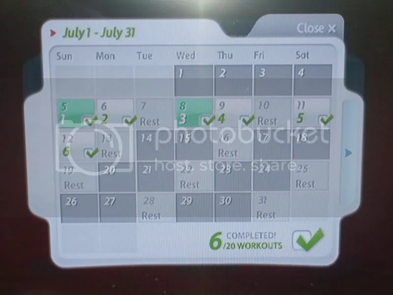 My month so far! Go me!!