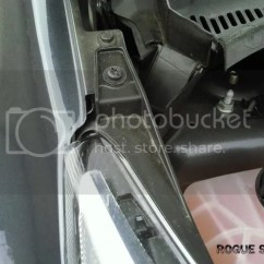 Ford Fiesta Mk7 Headlight Wiring Diagram Mitsubishi Pajero Alternator The Bulb Changing Guide Fiestamk7 Com Owners Resource One Bolt A Rivet At Bottom Of