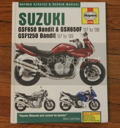 bandit 1250 650 repair manual in excellent condition prefer local pickup [ 825 x 1000 Pixel ]