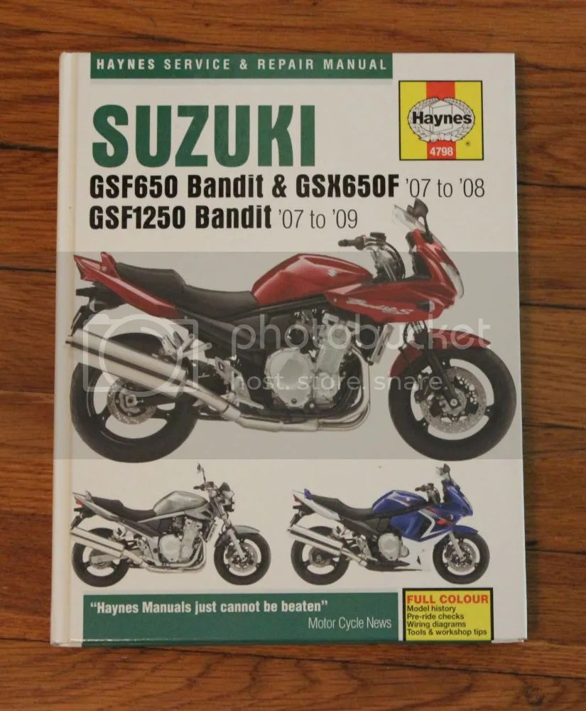 medium resolution of bandit 1250 650 repair manual in excellent condition prefer local pickup