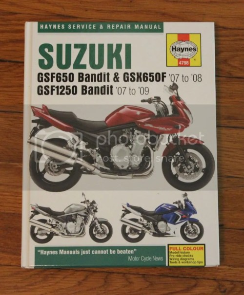 small resolution of bandit 1250 650 repair manual in excellent condition prefer local pickup