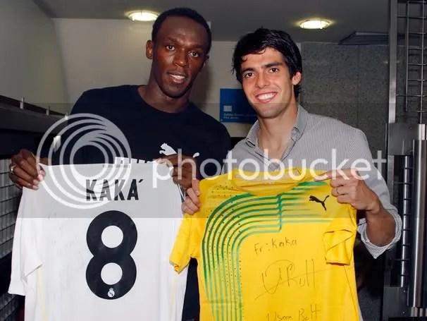 Ricardo kaka and Usain Bolt