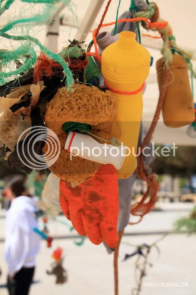 Desechos recogidos en la Playa de El Arbeyal