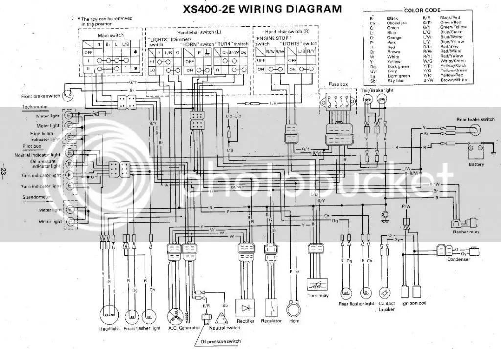 Rewire, Bare Bones wiring, XS 400