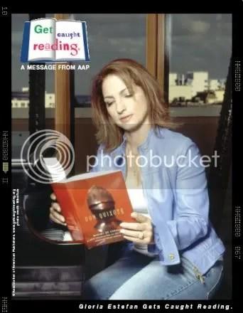 Gloria Estefan Gets Caught Reading