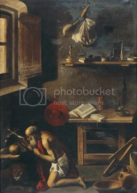 The Penitent Saint Jerome in his Study by the Pensionante del Saraceni