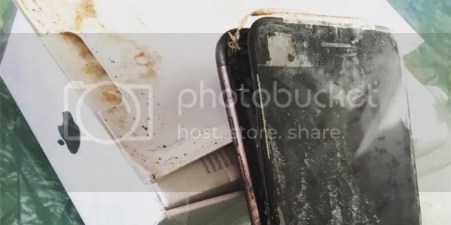 iphone 7 terbakar