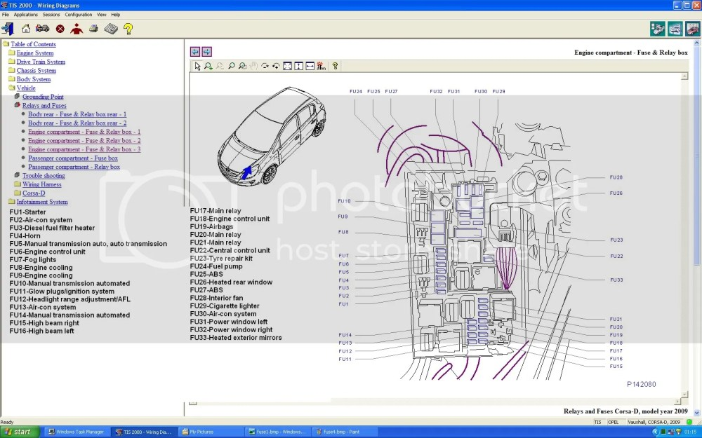 medium resolution of opel corsa utility 1 4 fuse box layout electrical drawing wiring 2001 toyota sienna fuse box